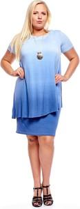 Niebieska sukienka Fokus oversize mini