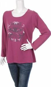 Różowa bluzka Twister w młodzieżowym stylu z długim rękawem