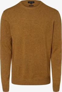 Brązowy sweter Andrew James z kaszmiru