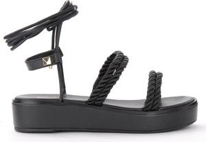 Czarne sandały Michael Kors z klamrami