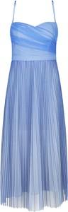 Sukienka Guess na ramiączkach z dekoltem w kształcie litery v midi