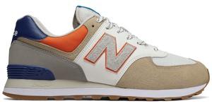Buty sportowe New Balance w sportowym stylu sznurowane ze skóry