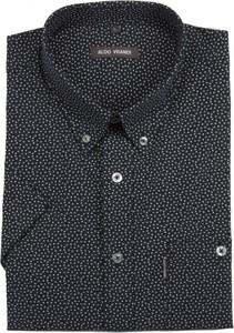 Czarna koszula Aldo Vrandi z bawełny