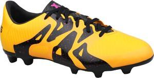 Żółte buty sportowe dziecięce Adidas sznurowane ze skóry
