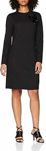 Sukienka amazon.de prosta z długim rękawem z okrągłym dekoltem