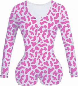Różowa bluzka Kendallme w stylu casual z nadrukiem