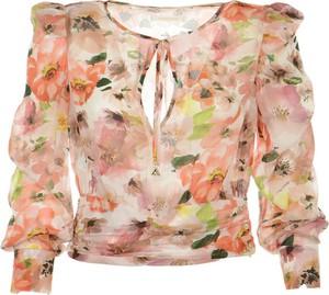 Różowa bluzka Patrizia Pepe z długim rękawem