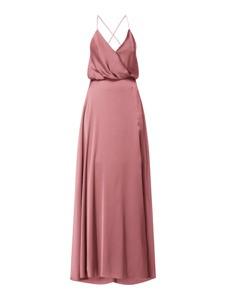 Różowa sukienka Unique z dekoltem w kształcie litery v