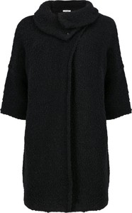Czarny płaszcz Liu-Jo z wełny w stylu casual