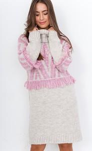 Sukienka ZOiO.pl dla puszystych z wełny mini