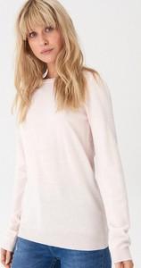 Różowy sweter House w stylu casual