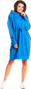 Sukienka Infinite You z okrągłym dekoltem w sportowym stylu z długim rękawem