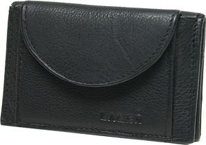 Czarny portfel Lagen ze skóry