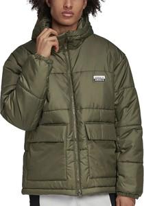 Zielona kurtka Adidas w stylu casual krótka