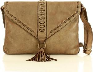Brązowa torebka Marco Mazzini Handmade średnia ze skóry