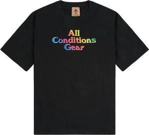 Czarny t-shirt Nike z bawełny z krótkim rękawem