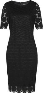Sukienka bonprix bpc selection z krótkim rękawem z okrągłym dekoltem