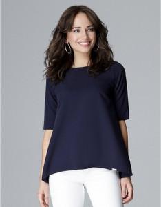 Niebieska bluzka LENITIF z długim rękawem