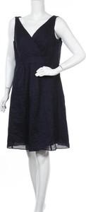 Niebieska sukienka Land`s End z dekoltem w kształcie litery v mini