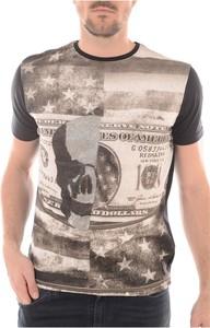 T-shirt Redskins w młodzieżowym stylu z nadrukiem z bawełny