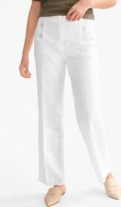 12a84100374e1 białe spodnie lniane - stylowo i modnie z Allani