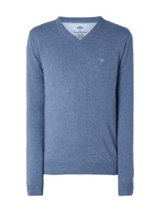Niebieski sweter Fynch Hatton z wełny