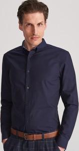 Granatowa koszula Reserved z długim rękawem