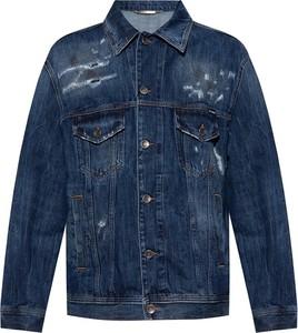 Granatowa kurtka Dolce & Gabbana w młodzieżowym stylu