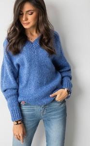 Niebieski sweter Cocomore z moheru
