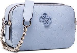 Niebieska torebka Guess na ramię mała