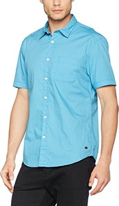 Niebieska koszula amazon.de z krótkim rękawem