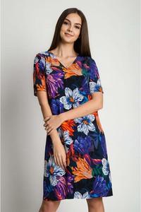 Sukienka Bialcon prosta z krótkim rękawem