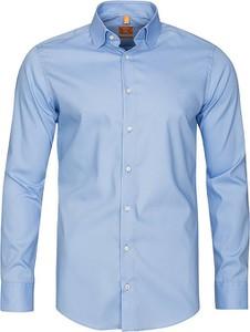 Niebieska koszula Redmond z długim rękawem z klasycznym kołnierzykiem