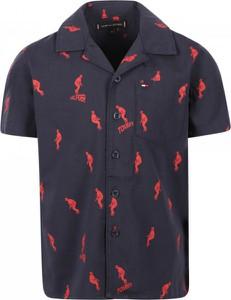 Czarna koszula dziecięca Tommy Hilfiger dla chłopców