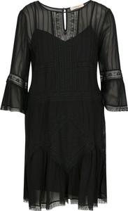 Czarna sukienka Twinset z długim rękawem mini w stylu casual