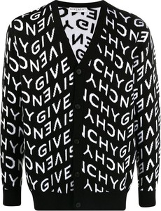 Czarny sweter Givenchy ze stójką w młodzieżowym stylu z dzianiny