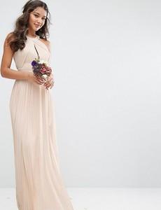 Różowa sukienka Tfnc z szyfonu