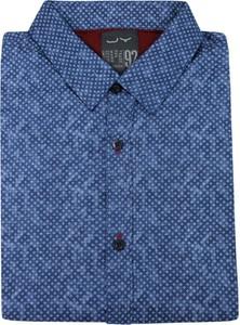 Niebieska koszula Just yuppi z bawełny