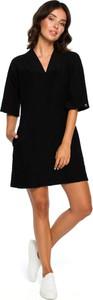 Sukienka BeWear mini z długim rękawem trapezowa