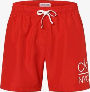 Czerwone kąpielówki Calvin Klein