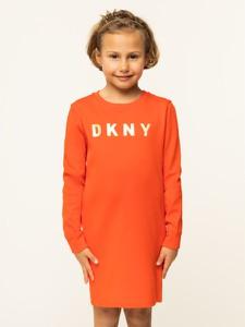 Czerwona sukienka dziewczęca DKNY