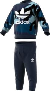 Dres dziecięcy Adidas z bawełny w paseczki