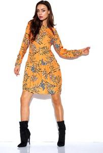 Brązowa sukienka Lemoniade koszulowa w stylu casual