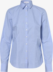 Niebieska koszula brookshire z dekoltem w kształcie litery v