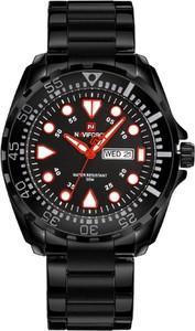 ZEGAREK MĘSKI NAVIFORCE - NF9105 (zn058b) - black/red - Czarny
