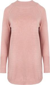 Różowy sweter Style w stylu casual
