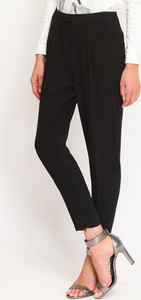 Czarne spodnie Top Secret z tkaniny w stylu klasycznym