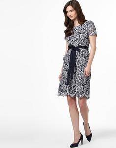 Sukienka Hugo Boss z krótkim rękawem z okrągłym dekoltem mini