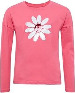 Bluzka dziecięca Tom Tailor dla dziewczynek z długim rękawem w kwiatki