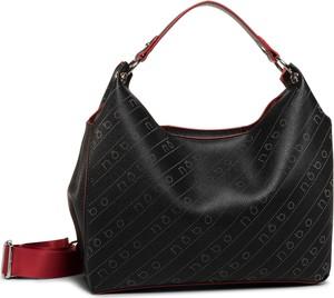 Czarna torebka eobuwie.pl w młodzieżowym stylu średnia na ramię